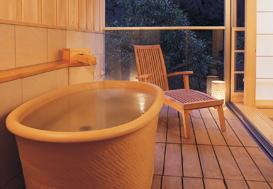 奥道後 壱湯の守の客室・貸切風呂